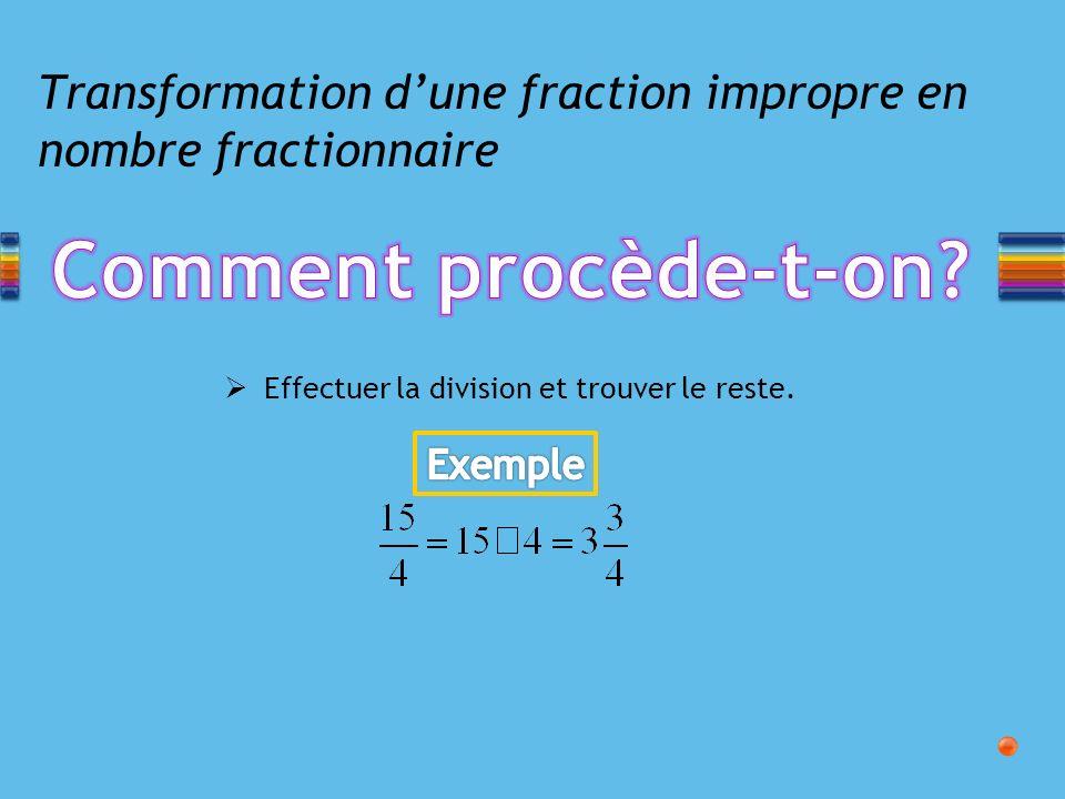 Addition et soustraction de fractions Mettre les fractions sur un dénominateur commun en trouvant le PPCM des dénominateurs.