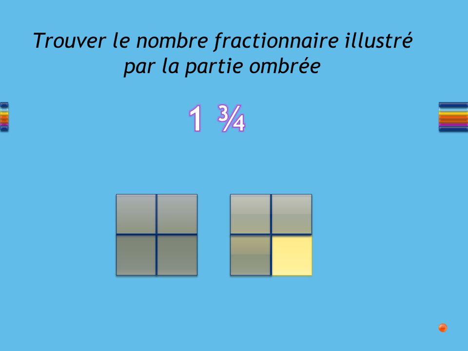Trouver le nombre fractionnaire illustré par la partie ombrée