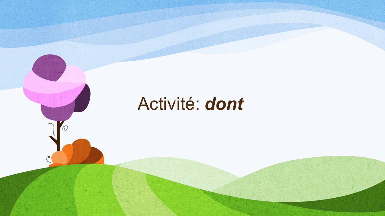 Activité: dont