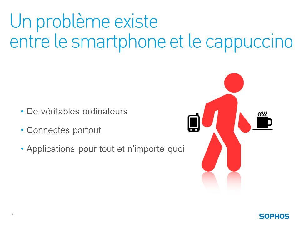 Un problème existe entre le smartphone et le cappuccino 7 De véritables ordinateurs Connectés partout Applications pour tout et nimporte quoi