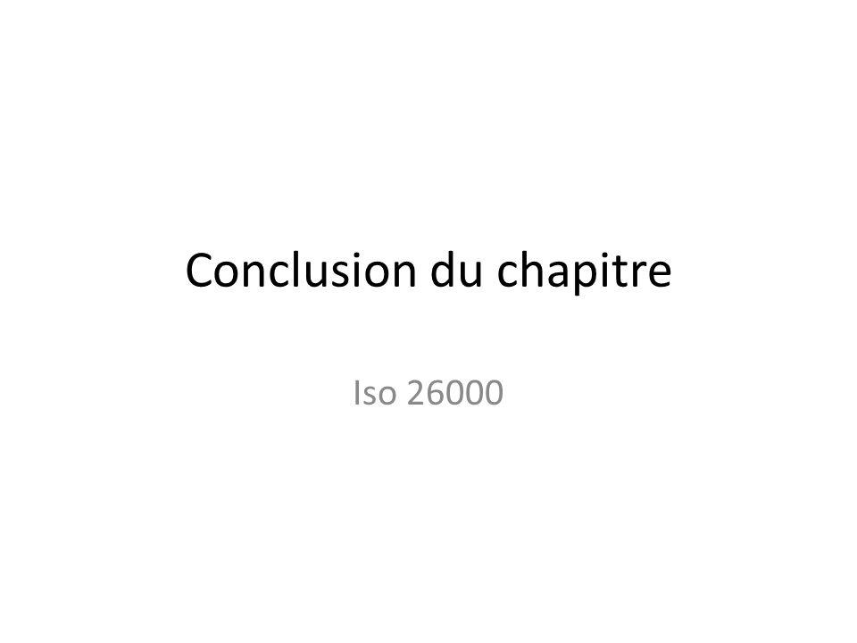 Conclusion du chapitre Iso 26000