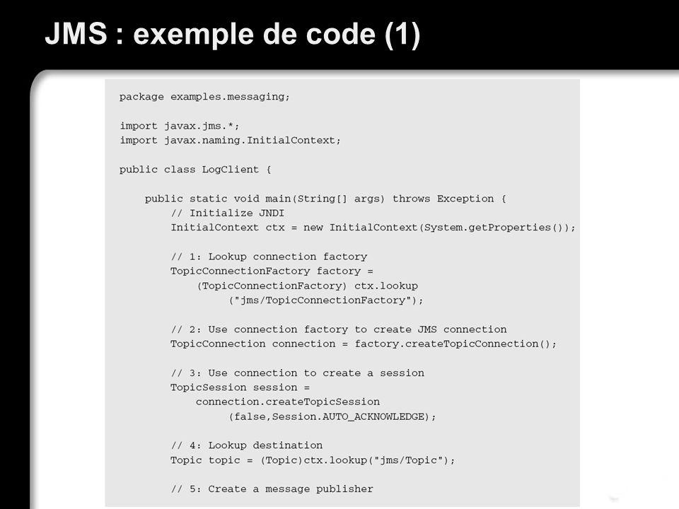 JMS : exemple de code (1)