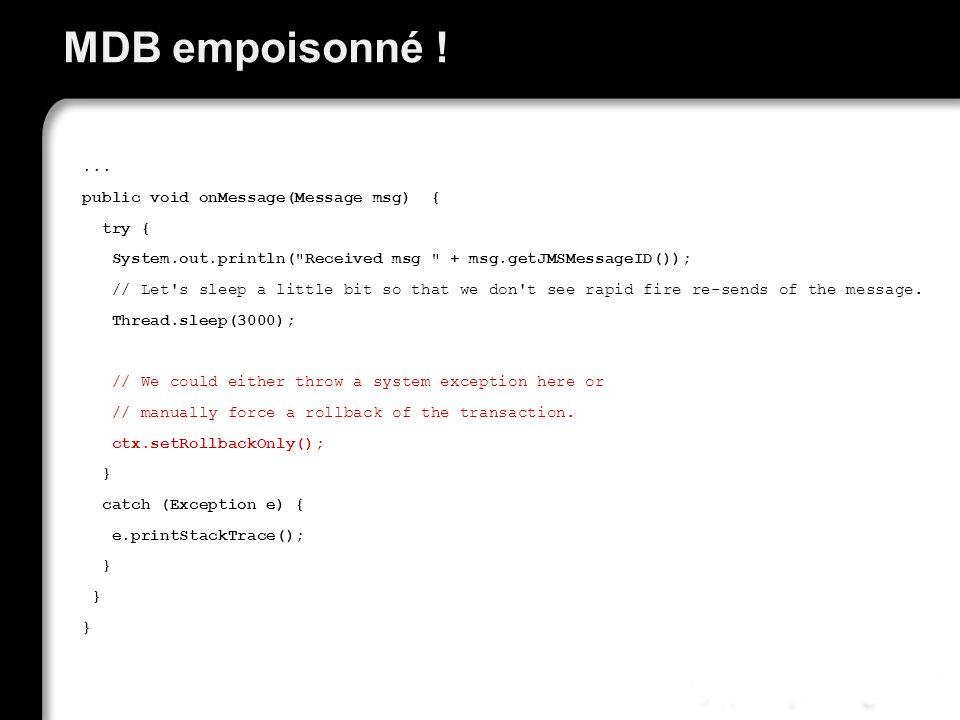 MDB empoisonné !...