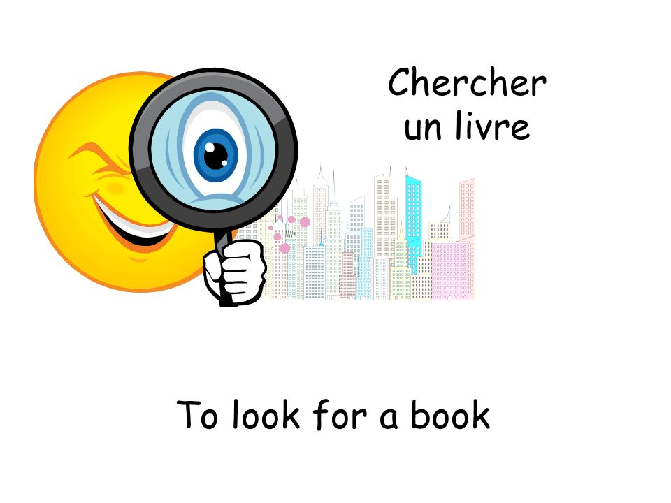 Chercher un livre To look for a book