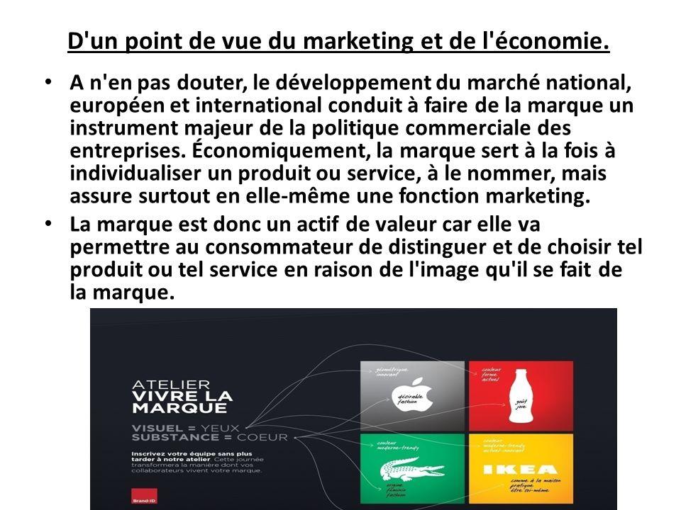 D'un point de vue du marketing et de l'économie. A n'en pas douter, le développement du marché national, européen et international conduit à faire de