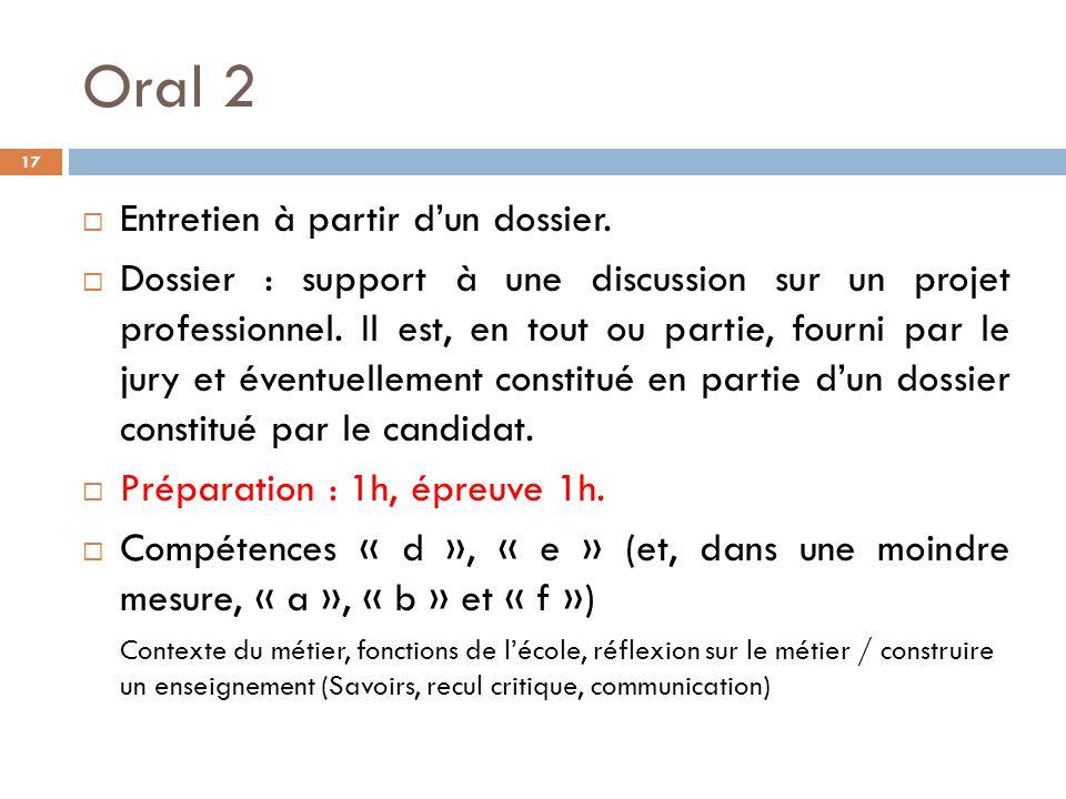 Oral 2 17 Entretien à partir dun dossier.