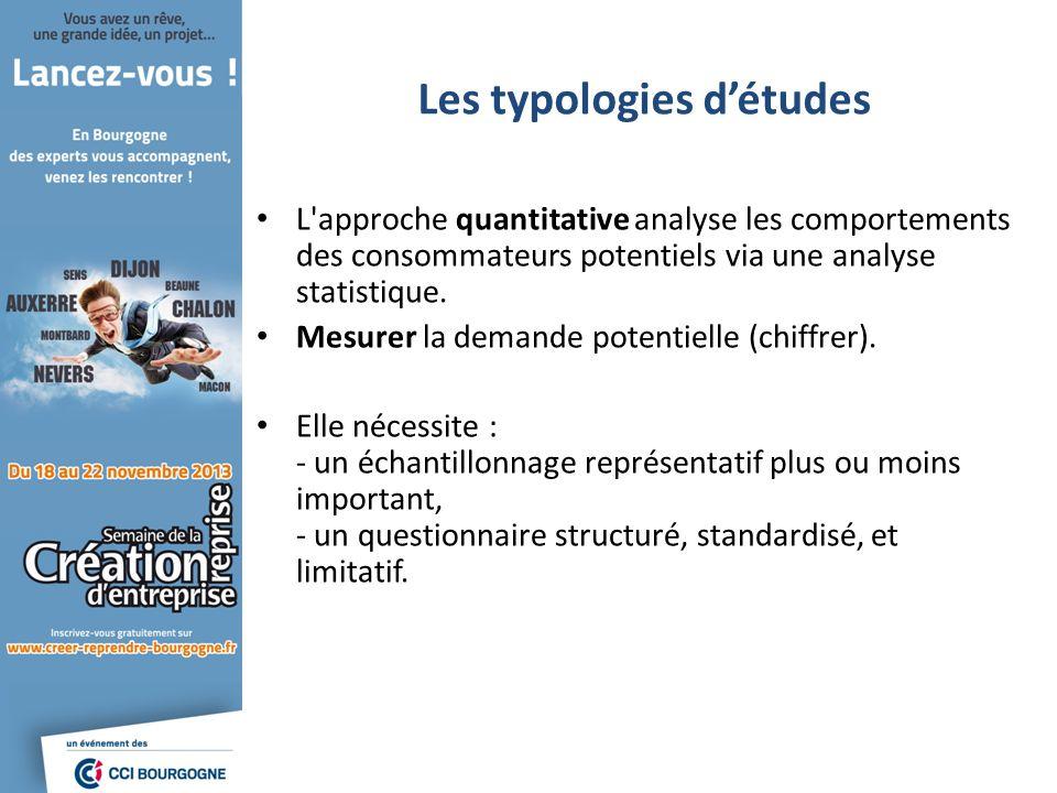 L'approche quantitative analyse les comportements des consommateurs potentiels via une analyse statistique. Mesurer la demande potentielle (chiffrer).