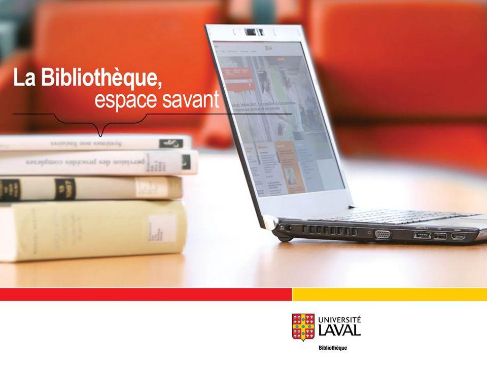 La recherche dans les bases de données ENP-1002 FRANCE BILODEAU AUTOMNE, 2012 Bibliothèque de lUniversité Laval
