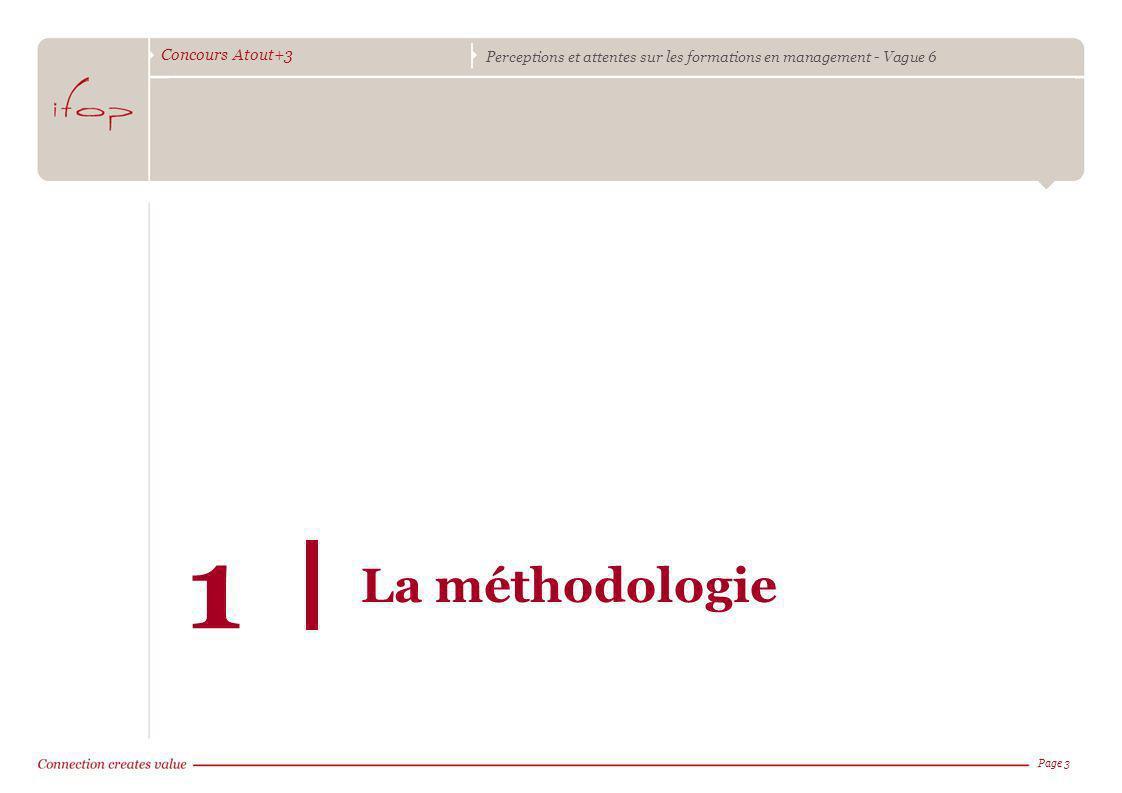 Concours Atout+3 Perceptions et attentes sur les formations en management - Vague 6 Page 3 La méthodologie 1