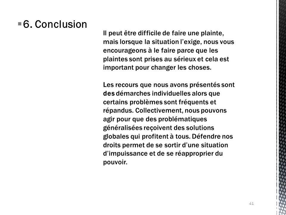6. Conclusion 41