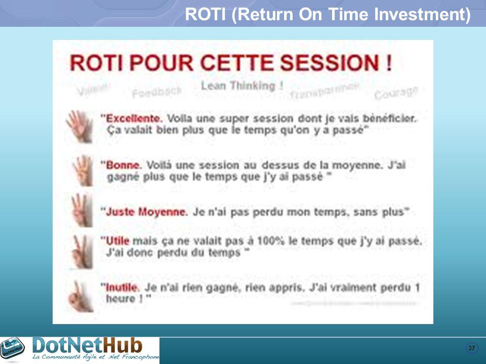 37 ROTI (Return On Time Investment)