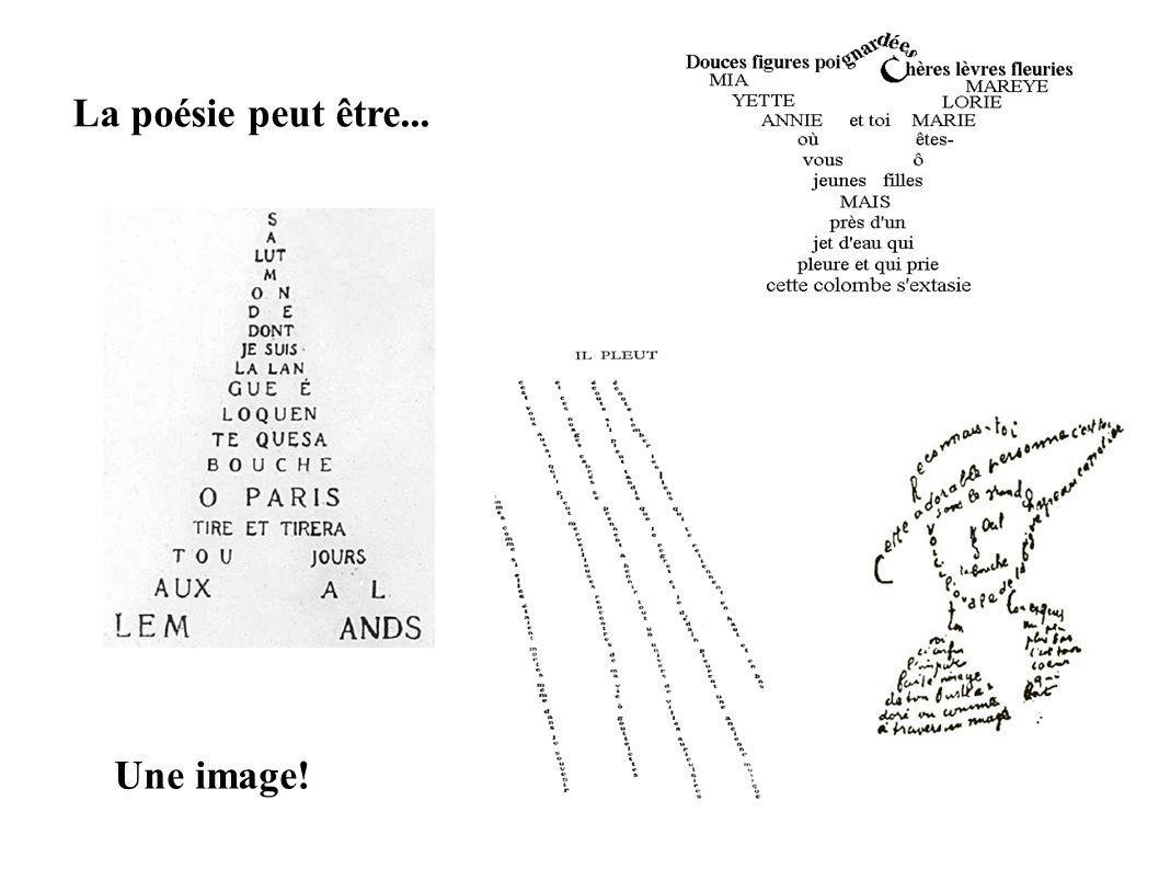 La poésie peut être... Une image!