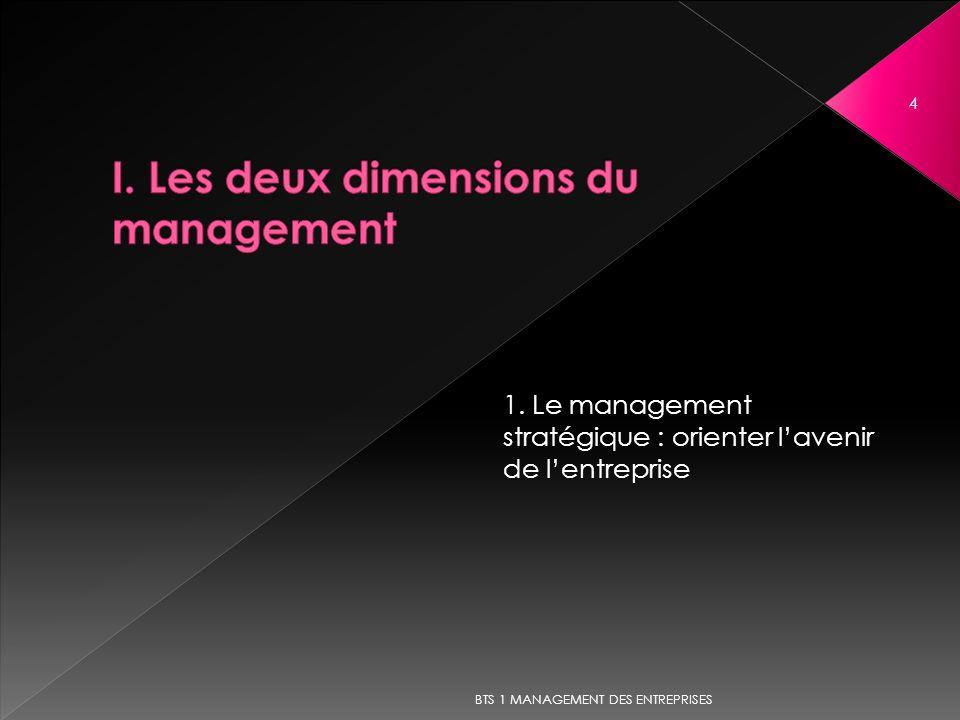 4 1. Le management stratégique : orienter lavenir de lentreprise