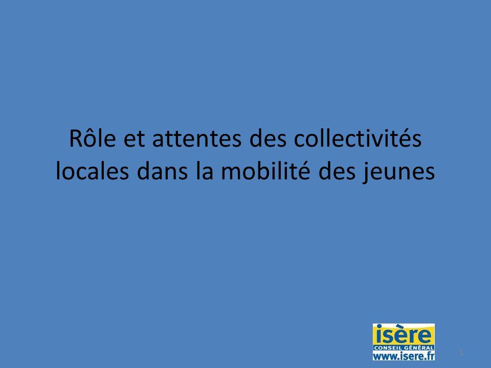 1 Rôle et attentes des collectivités locales dans la mobilité des jeunes