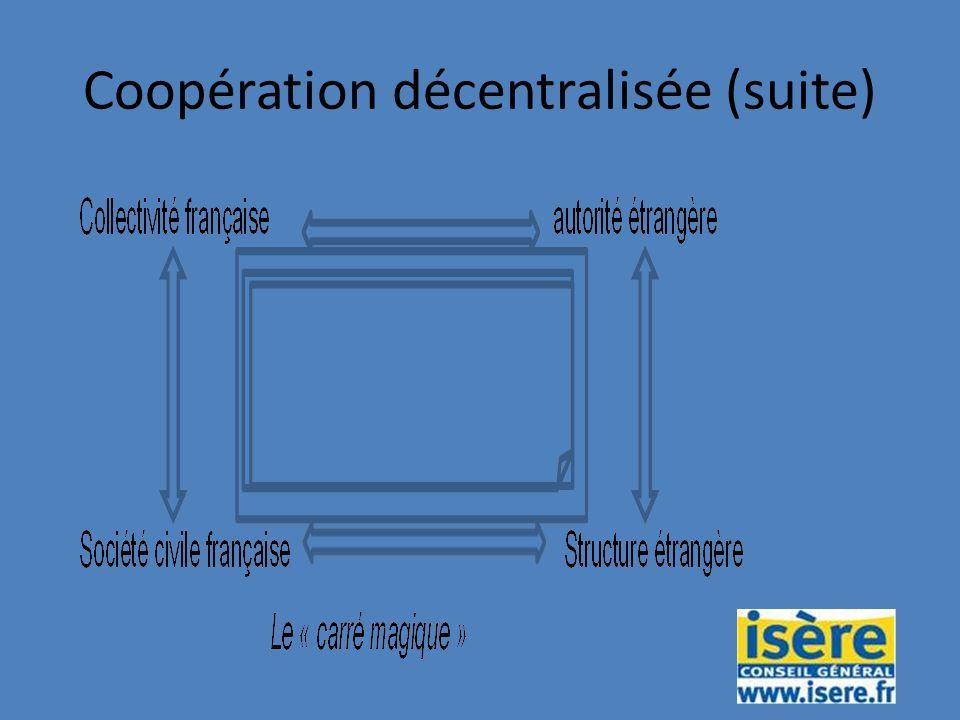 Coopération décentralisée (suite)