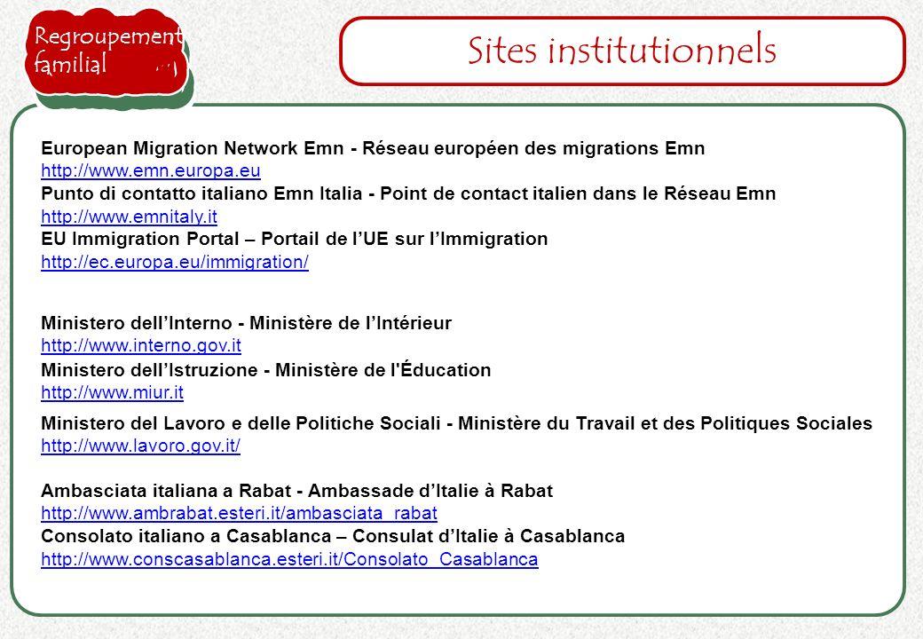 Ministero dellIstruzione - Ministère de l'Éducation http://www.miur.it http://www.miur.it Sites institutionnels Ministero dellInterno - Ministère de l
