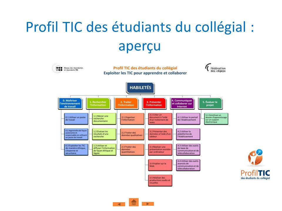 Profil TIC des étudiants du collégial : aperçu