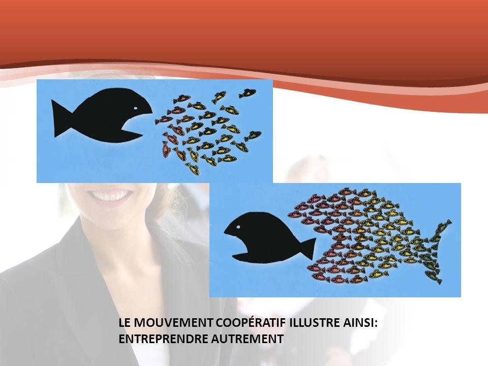Comparaison du taux de survie des entreprises coopératives et privées Après 5 ans Après 10 ans Taux survie moyen des entreprises coopératives 64%46% Taux de survie moyen des entreprises privées Statistiques Canada, 2008 36%20%