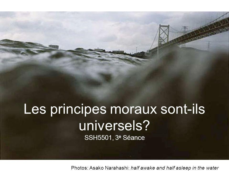 Les valeurs morales Ce sont des idéaux que lon cherche à atteindre ou à éviter (=valeur négative); ce que lon juge moralement important.