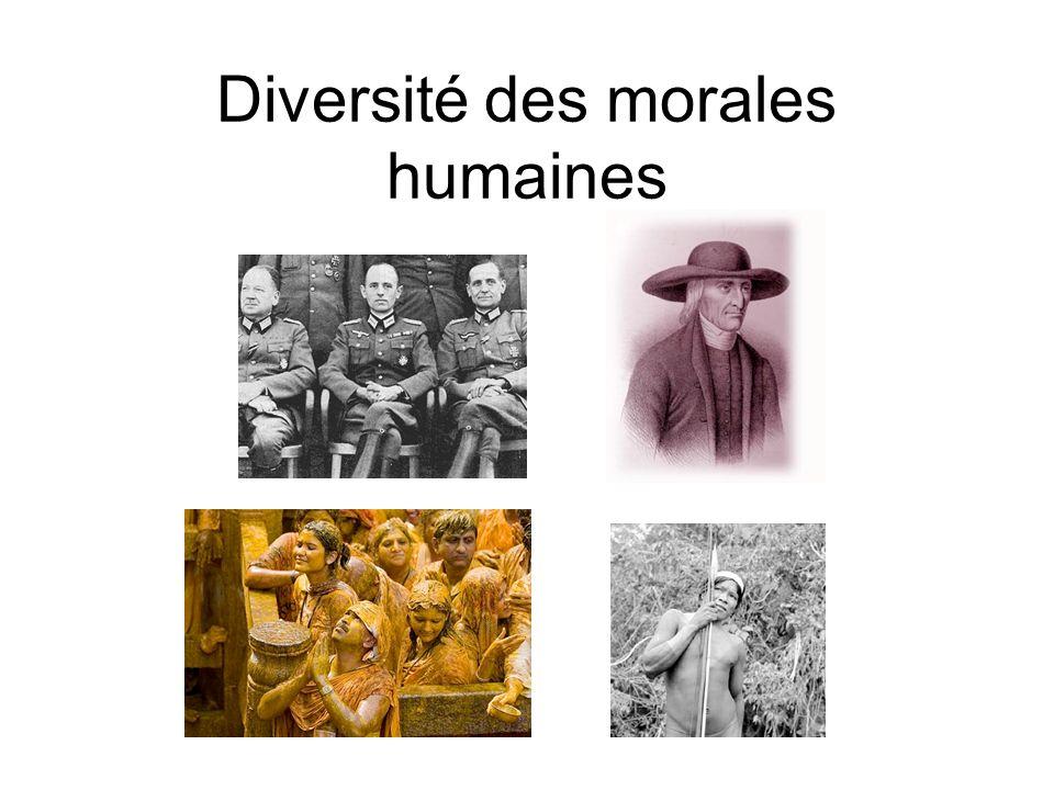 Diversité des morales humaines