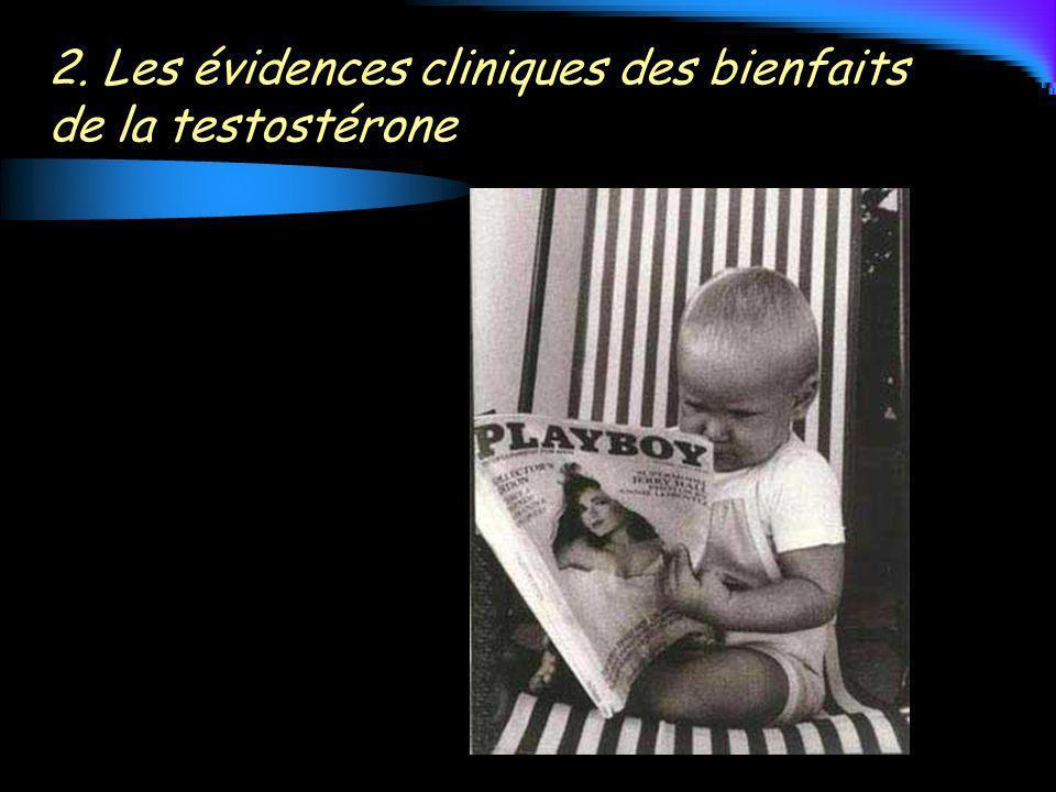 2. Les évidences cliniques des bienfaits de la testostérone