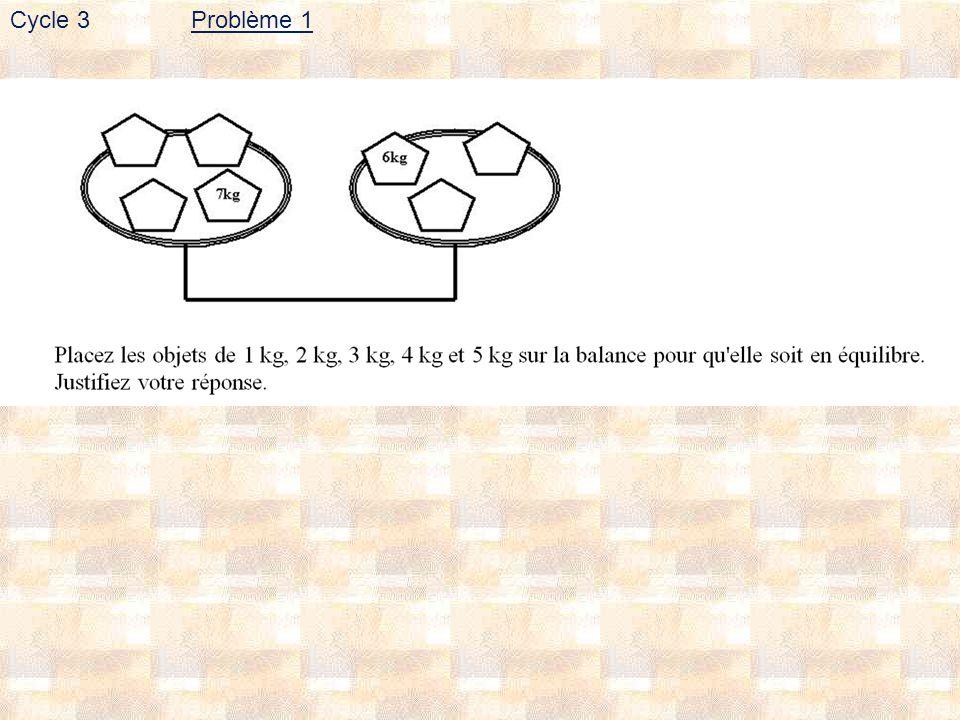 Problème 1Cycle 3