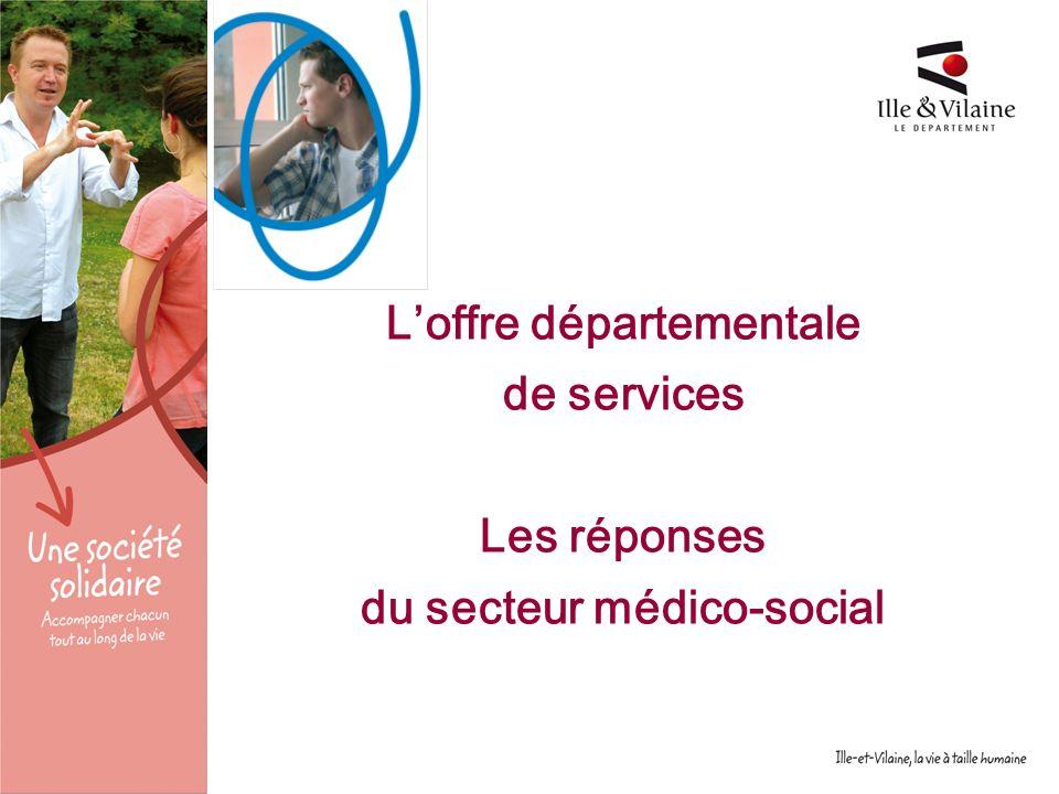 11 décembre 2009 Loffre départementale de services Les réponses du secteur médico-social