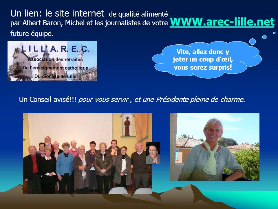 Membres de la CNAREC Comité national des 18 Arec de France Et organisateurs du Congrès National en 2009, à Mouvaux en présence de Monseigneur ULRICH, notre Archevêque.