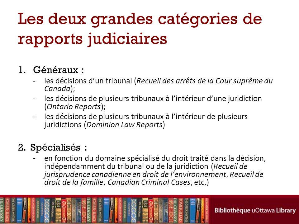 La structure dune décision judiciaire Lintitulé de la cause : les noms des parties – ex.: R.