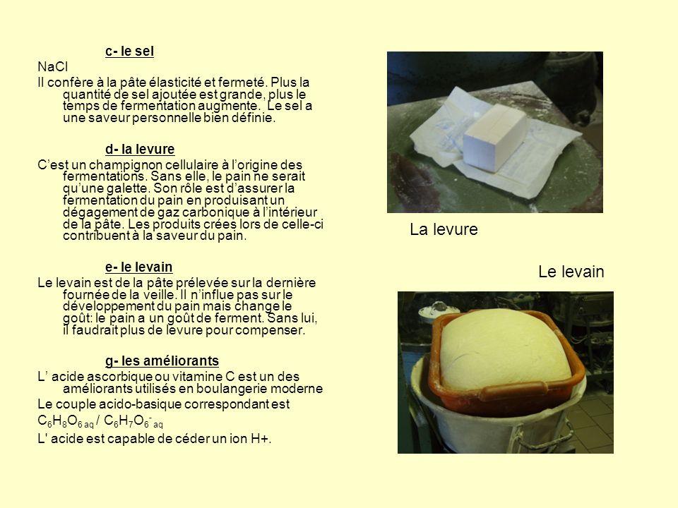 h- Le mode de fabrication – Etapes de la fabrication: -frasage -repos -pesage, division -balancelle -façonneuse -cuisson Plus la pâte attend, plus le goût est fort du fait de la fermentation.