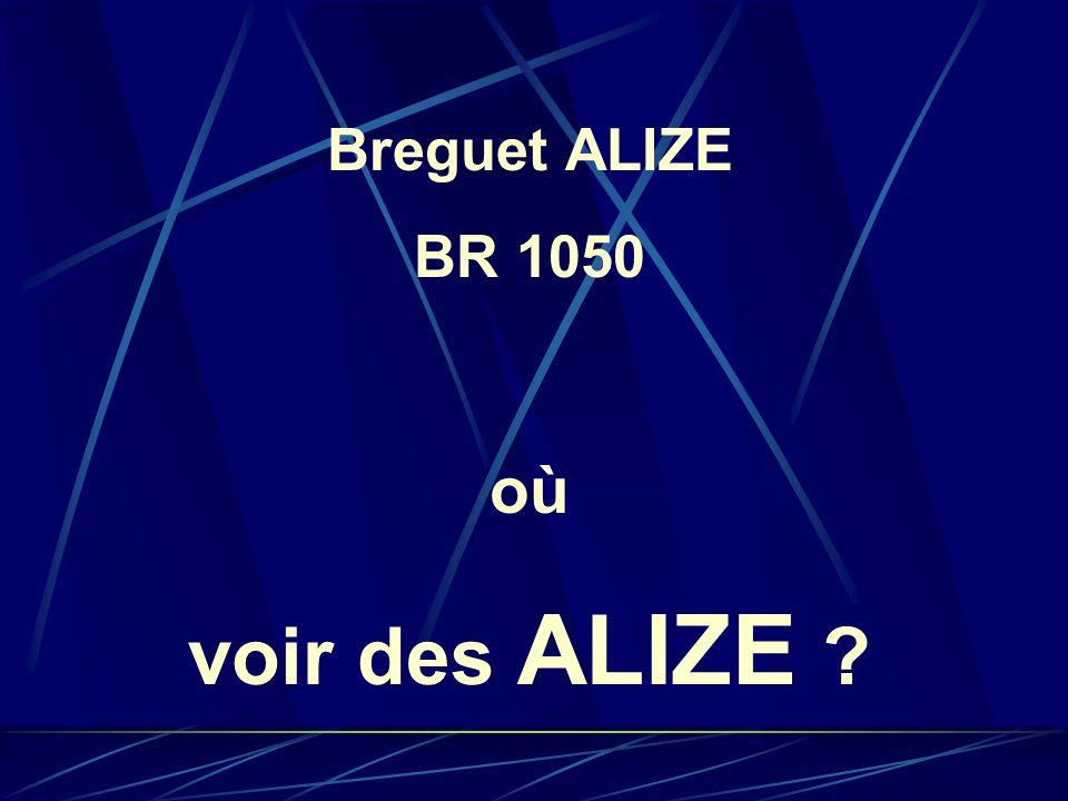 Breguet ALIZE BR 1050 où voir des ALIZE ?
