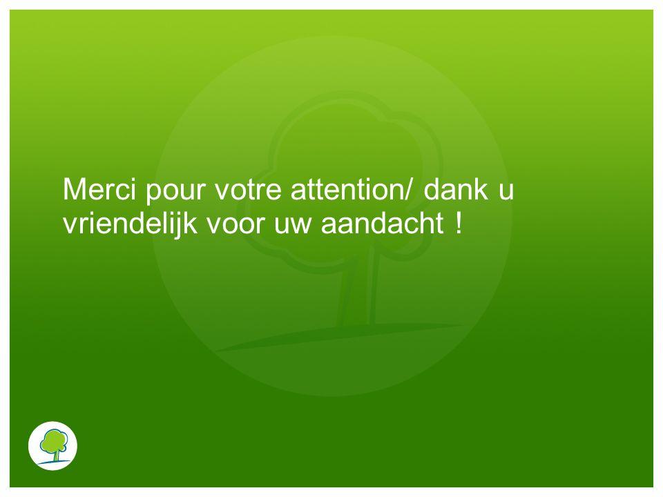 Merci pour votre attention/ dank u vriendelijk voor uw aandacht !