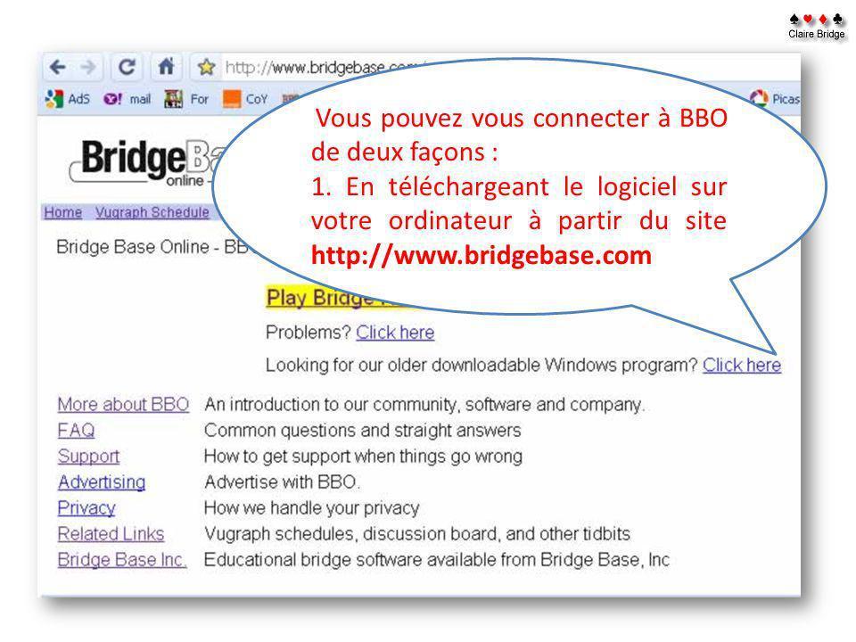 2.En vous connectant directement à partir du site internet.