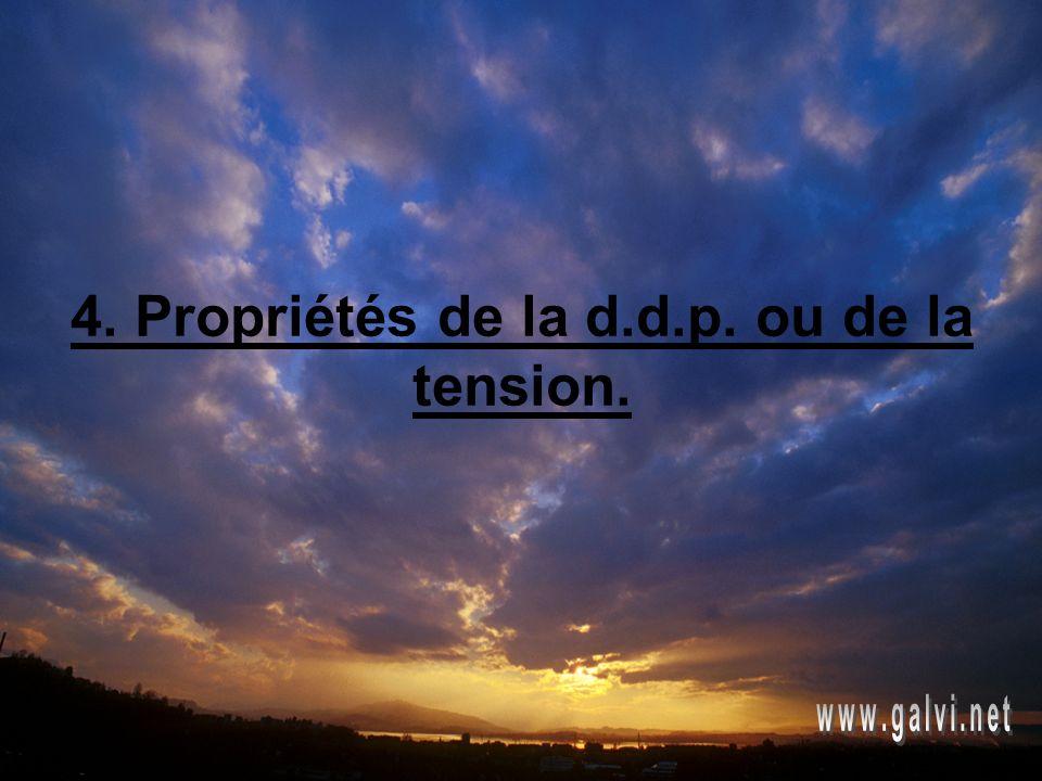 4. Propriétés de la d.d.p. ou de la tension.