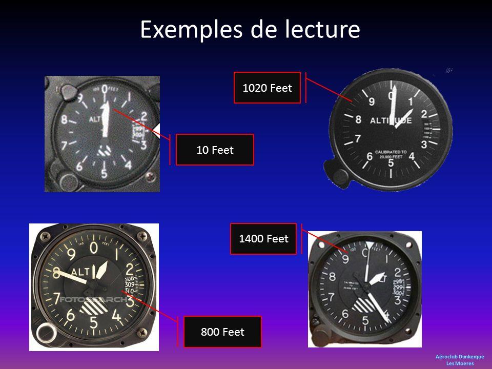 Exemples de lecture 10 Feet 1020 Feet 1400 Feet 800 Feet