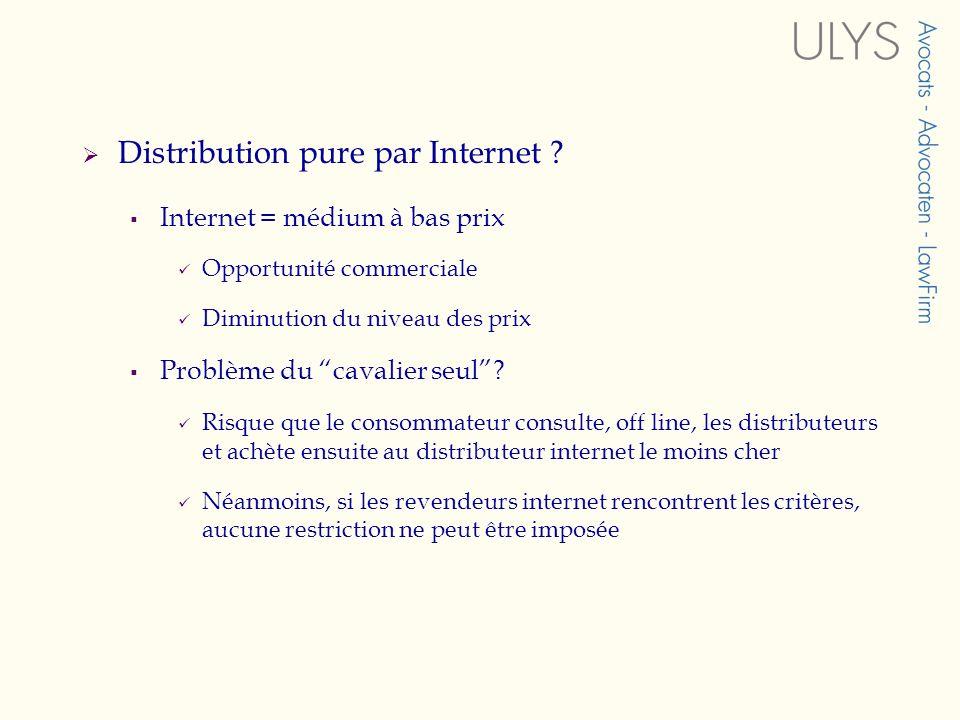 Distribution pure par Internet .