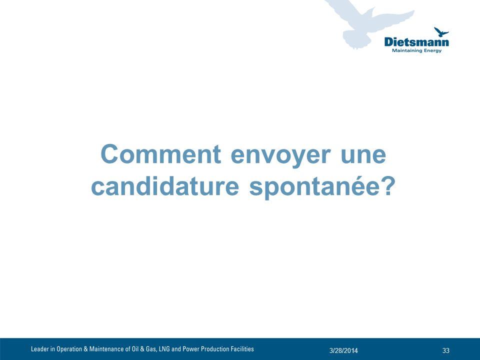 Comment envoyer une candidature spontanée? 3/28/201433