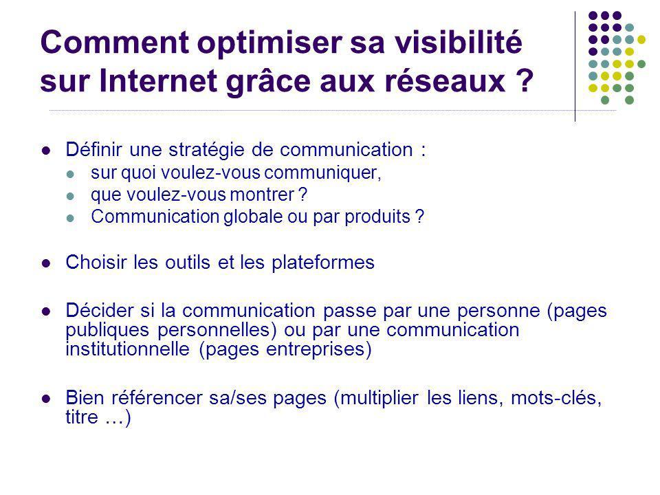 Comment optimiser sa visibilité sur Internet grâce aux réseaux ? Définir une stratégie de communication : sur quoi voulez-vous communiquer, que voulez