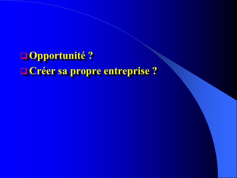 Créer sa propre entreprise ? Opportunité ? Créer sa propre entreprise ?