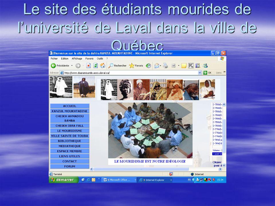 Le site des étudiants mourides de luniversité de Laval dans la ville de Québec