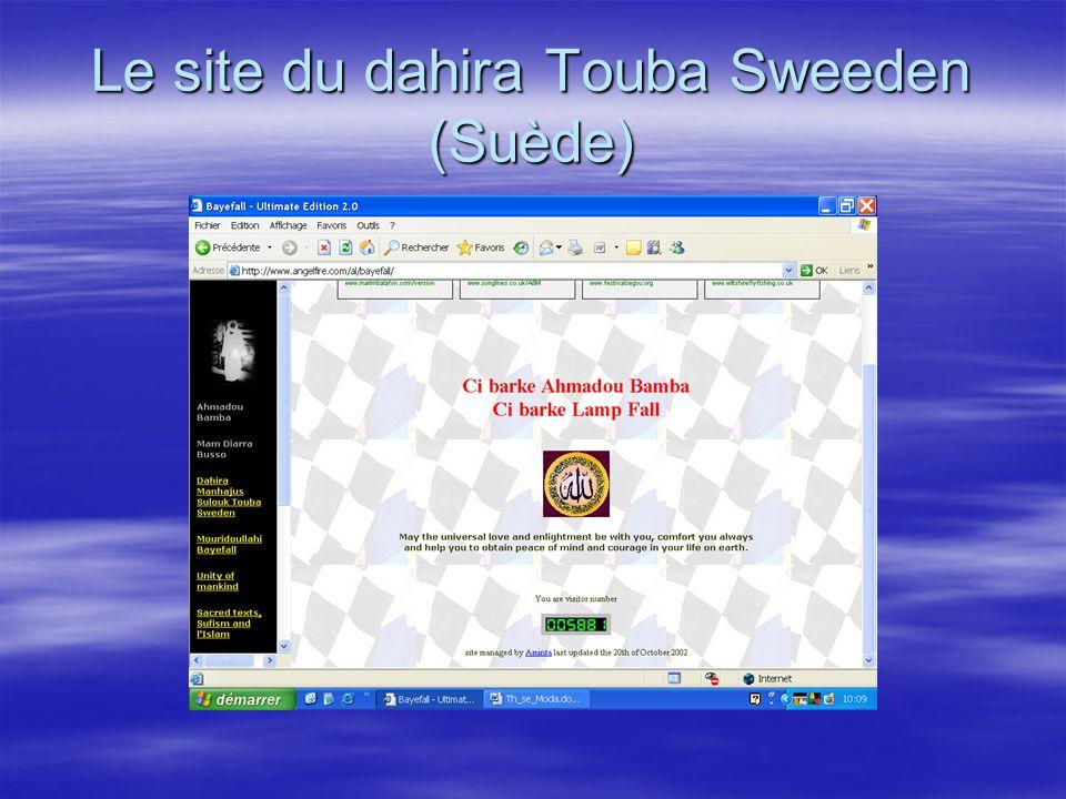 Le site du dahira Touba Sweeden (Suède)
