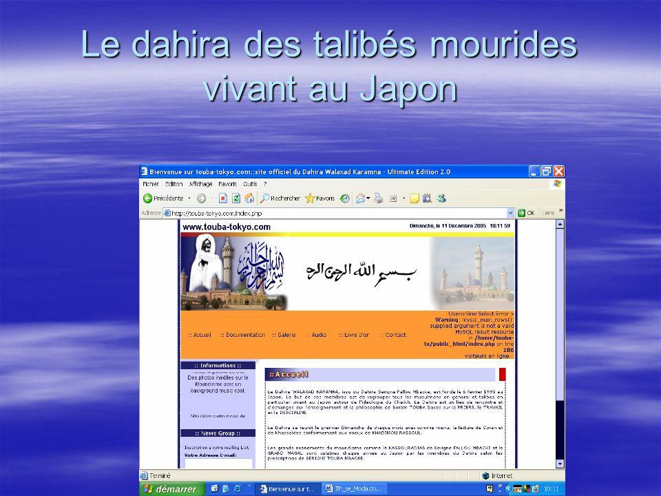 Le dahira des talibés mourides vivant au Japon
