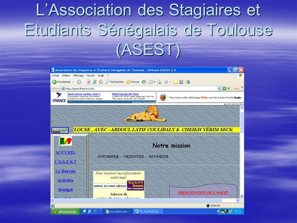 LAssociation des Stagiaires et Etudiants Sénégalais de Toulouse (ASEST)