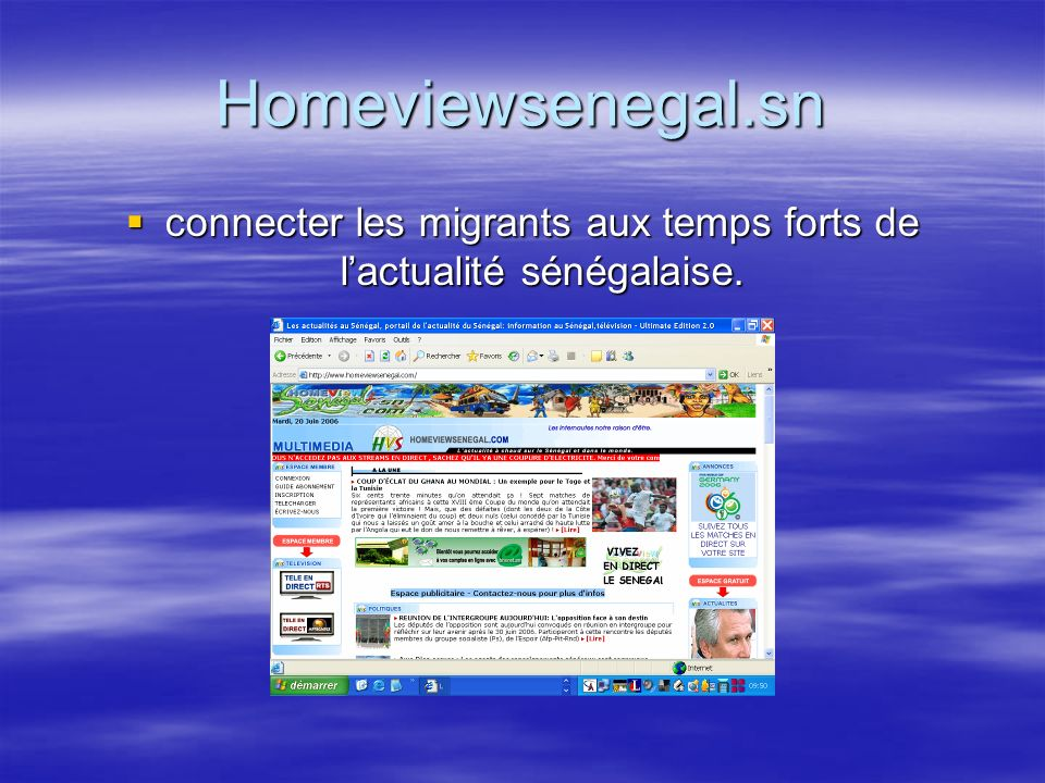 Homeviewsenegal.sn connecter les migrants aux temps forts de lactualité sénégalaise.