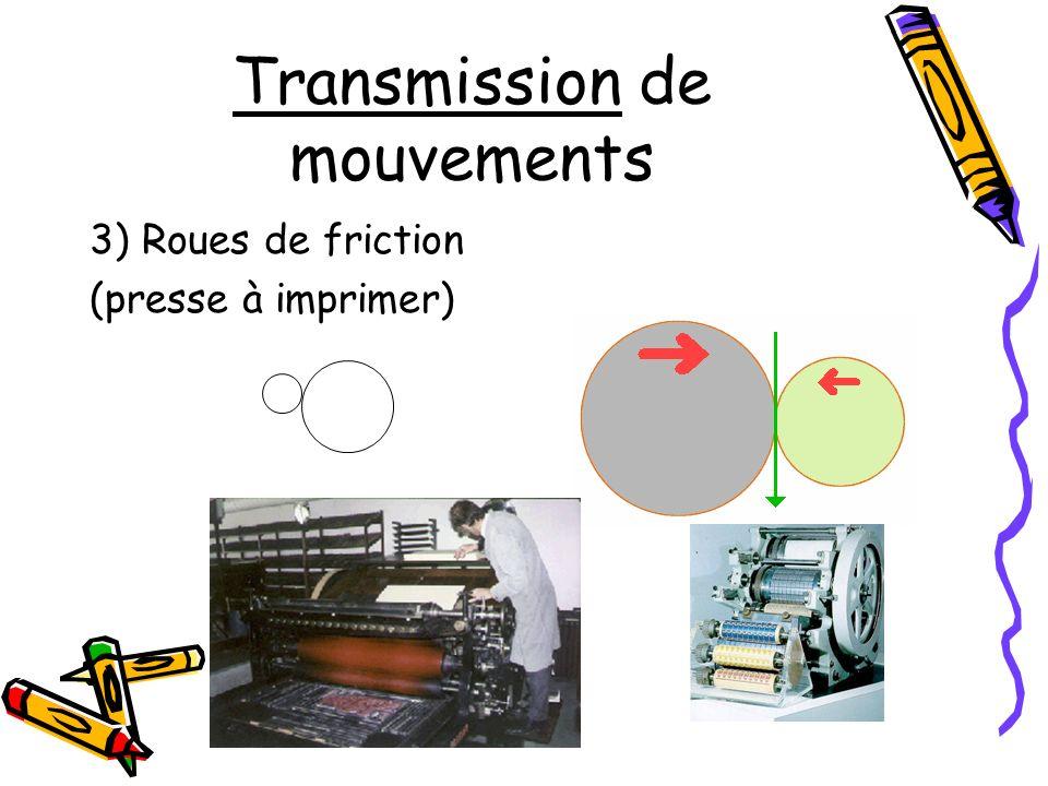 Transmission de mouvements 4) Chaîne et roues dentées (chaîne du pédalier de bicyclette)