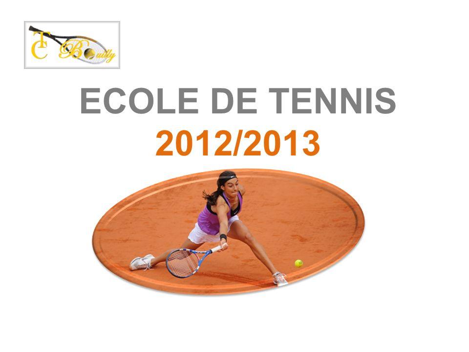 ECOLE DE TENNIS 2012/2013