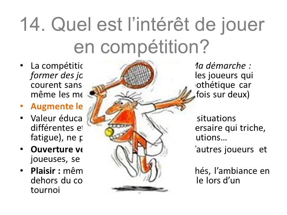 La compétition nest pas une fin en soi.