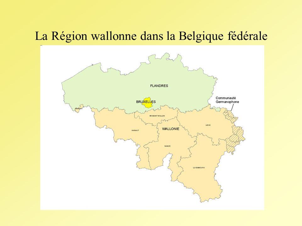 La Région wallonne dans la Belgique fédérale