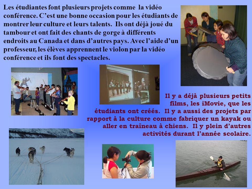 Les étudiantes font plusieurs projets comme la vidéo conférence. Cest une bonne occasion pour les étudiants de montrer leur culture et leurs talents.