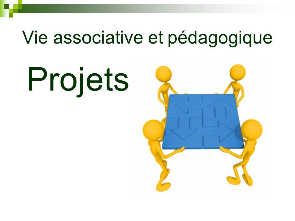 Vie associative et pédagogique Projets